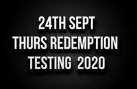24th Sept - Thursday Kenda Radial Redemption Testing 2020